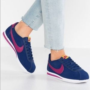Nike Classic Cortez Leather Blue Void/True Berry